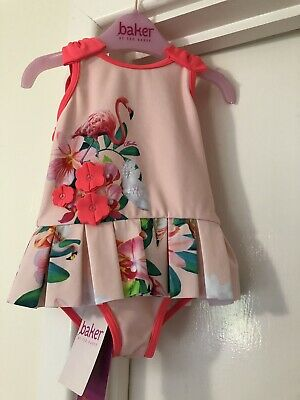 Ted Baker Baby Swimsuit 9-12 Months Brand New With Tags Flamingos Freepost