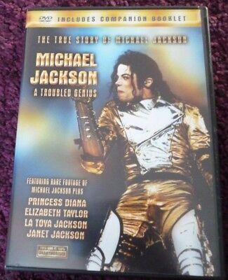 Michael Jackson - A Troubled Genius [DVD] INCLUDES COMPANION BOOKLET*RARE*