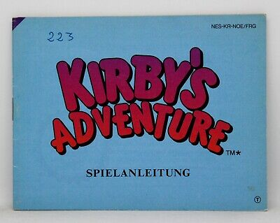 Manual Kirby's Adventure - Nintendo Nes - Pal - Kirby Adventures Kirbys