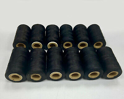 12 Black Silk Rayon Spools 100% Embroidery Machine Thread Strong Spools UK