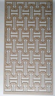 Radiator Cabinet Decorative Screening Perforated 3mm & 6mm thick MDF laser cutO2