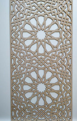 Radiator Cabinet Decorative Screening Perforated 3mm & 6mm thick MDF laser cutM1