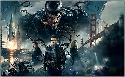Venom Tom Hardy Movie Large Poster Art Print Giant A0 to A5 Small Size
