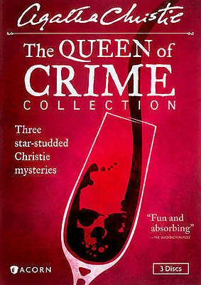 Agatha Christies The Queen of Crime Collection (DVD, 2014, 3-Disc Set) LIKE NEW!