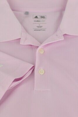 Adidas Climacool Men's Red Polyester Golf Polo Shirt L Large