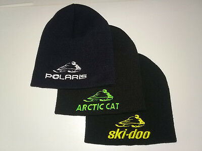 "8"" Knit Beanie - Snowmobile, Embroidered, Hat, Polaris, Arctic Cat, Ski-Doo"