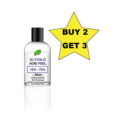 25ml Glycolic Acid AHA Skin Peel - Acne - your choice of % - BUY 2 GET 3