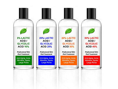 200ml Lactic Acid/Glycolic Acid Combination Skin Peel - your choice of strength%
