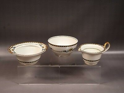 LIMOGES France B&C Bernardaud Horn of Plenty Nappy Cream and sugar Set EXCELLENT