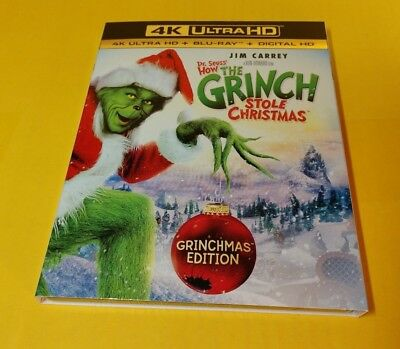 Dr. Seuss' How the Grinch Stole Christmas (4K Ultra HD+Blu-ray/Digital)Slipcover