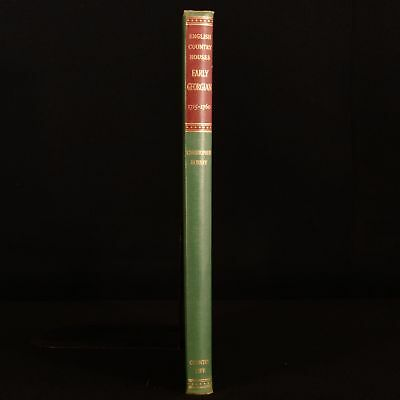 1955 English Country Houses Early Georgian 1715-1760 Hussey Illustrated First Ed