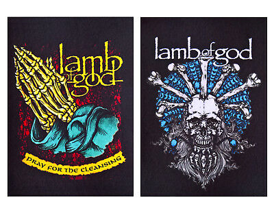 Lamb of God patch DIY printed textile patch death groove heavy metal hard rock
