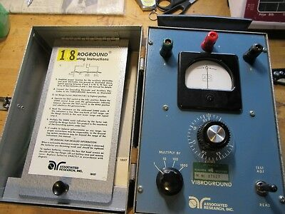 Vibroground Model 255 Associated Research 3 Point Earth Resistance Tester