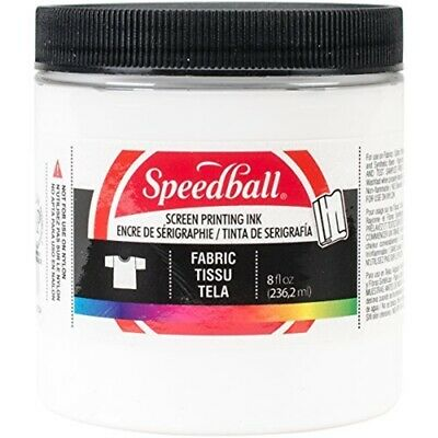 Speedball Art Products 465283 Fabric Screen Printing Ink, 8-ounce, White - Ink