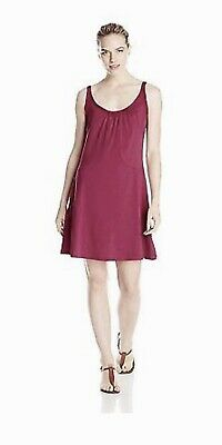 1ffe8c176ad NEW NWT Exofficio Sol Cool Sleeveless A Line Sun Dress Burgundy Womens XL  14 16
