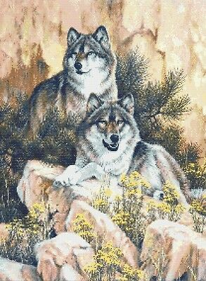 Wolf Pair # 8 - Counted X-Stitch Chart