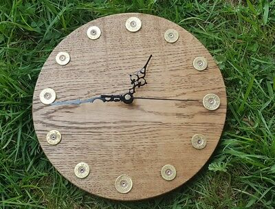 Wooden Shotgun Cartridge Wall Clock Shooting Present Gift