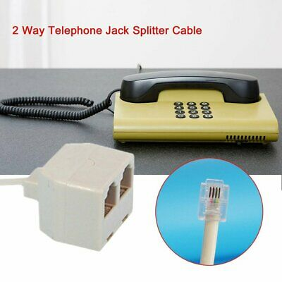 RJ11 6P4C Male to 6P4C Female 2 Way Telephone Splitter Phone Telephone Line MT