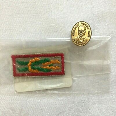 BSA Boy Scout James E West Fellowship Award Gold Level Pin Donation $10,000 New