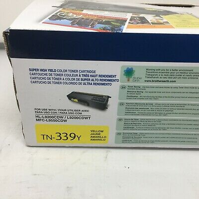 SEALED GENUINE Brother TN339Y Super High Yield Yellow Toner OEM
