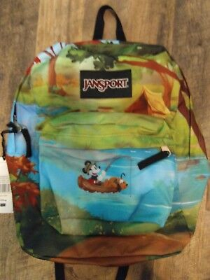 7036b9abe47 Jansport x Disney High Stakes Forest Camp Backpack Mickey Mouse NWT New RARE