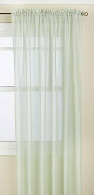 LORRAINE HOME FASHIONS Reverie Tailored Window Panel, 60 by 72-Inch, Mint