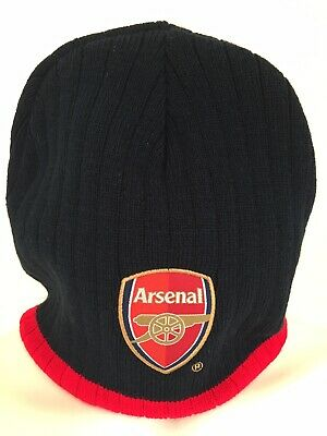 97931f53c34c0 ARSENAL FC OFFICIAL Football Gift Knitted Bronx Beanie Hat Crest ...