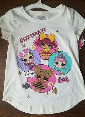 LOL Surprise Doll Shirt White Glitterati Queen Bee Cosmic Crystal Glitter NEW