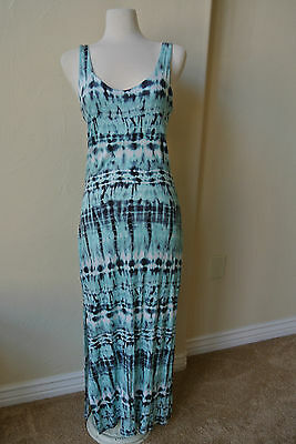 URBAN OUTFITTERS Staring At Stars Maxi Tank Boho Dress M NWOT$129 Tie-Dye!Blues!