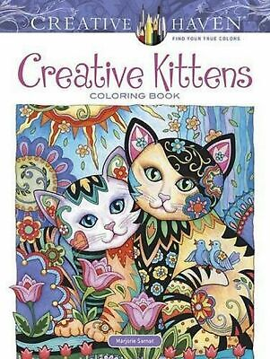 Adult Colouring Book Creative Kittens Cats Pattern Design Artwork Stress Relief