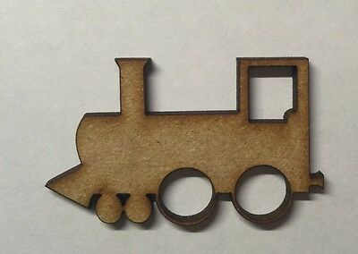 TRAIN LASER CUT MDF WOODEN SHAPE Wood Craft Arts Decoration