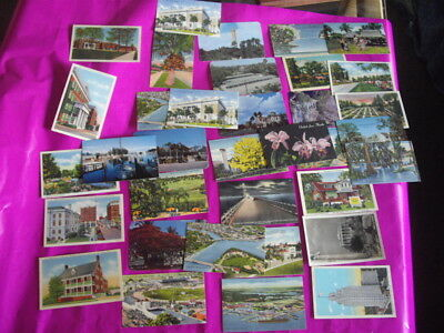 Penny postcards, 1940's - 1950's, 34 new, 17 posted, on souvenir book of 10
