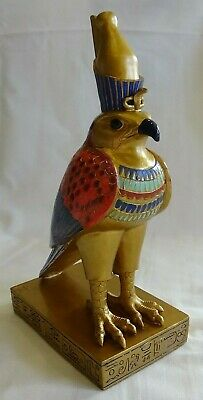 "Egyptian Horus God Of Order & Justice Myths & Legends Figurine 8 1/2"" Tall Bird"