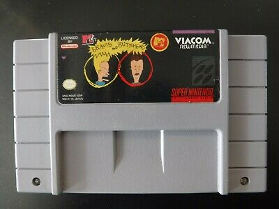 Authentic Super Nintendo SNES Beavis and Butthead Cartridge Only