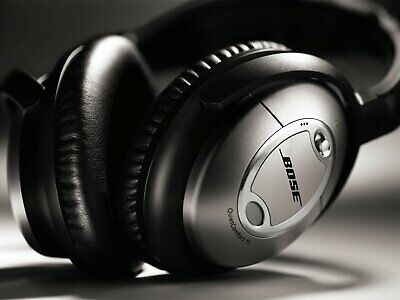 Bose Quiet Comfort 15 Acoustic Noise Cancelling Headphones - Black/Silver