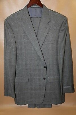 #340 Hickey Freeman Madison Two Button  Suit Size 48 L