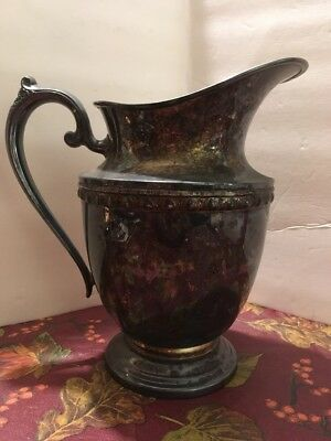 Antique Rogers Bros Silverplatef Water Pitcher.