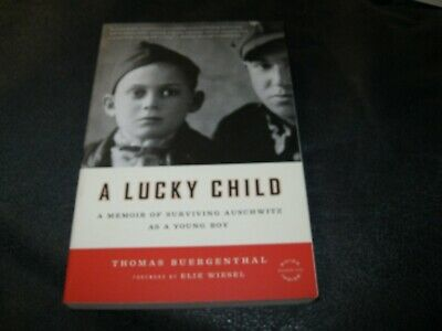 A Lucky Child Book AUTOGRAPHED by Elie Wiesel Memoir Surviving Auschwitz