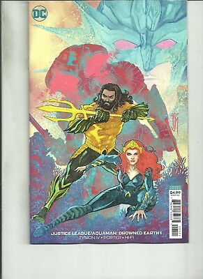 Justice League #10 Variant Cover 2018 VF//NM DC Comics Drowned Earth
