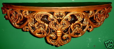 Ornate French Fleur De Lis Shelf Sconce Bronze Finish