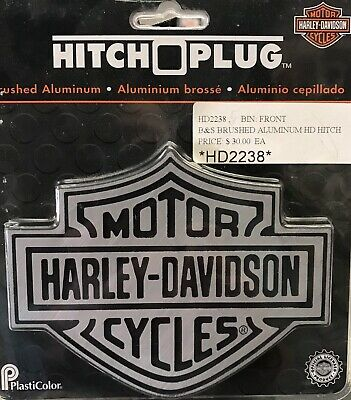 2 inch post Harley-Davidson Trailer Hitch Cover Plug With 3D Monotone Bar /& Shield