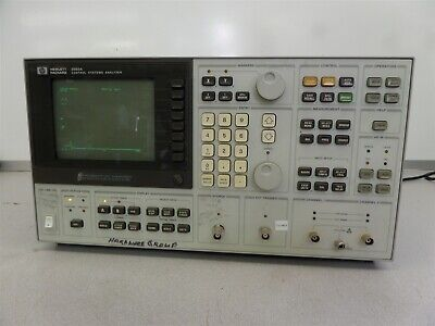 HP 3563A Control System Analyzer