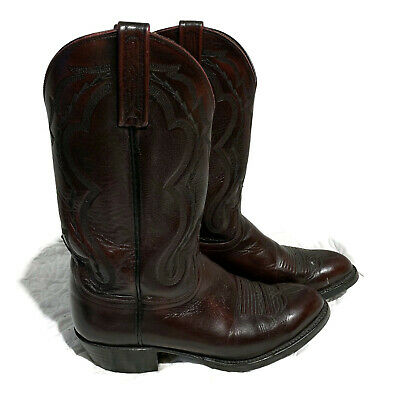 16e9576bb7a LUCCHESE T3094 JEREMY Black Long Star Calf Leather Cowboy Boots MENS ...