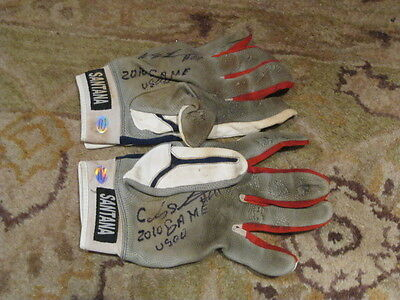 c4980c6fa Carlos Santana Game Used Autograph Batting Gloves Hollywood Collectible Cert