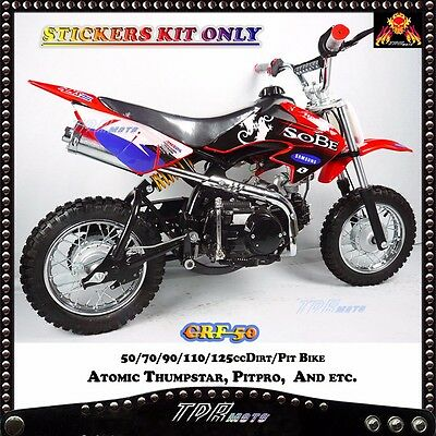 3M Red New Sticker Graphics Decals for CRF50 Dirt Bike Atomik 50/70/90/110/125cc