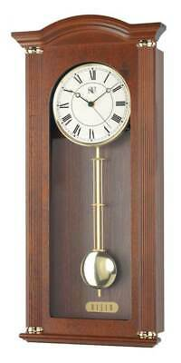 Chiming Wall Clock with Brass Accents [ID 3618377]
