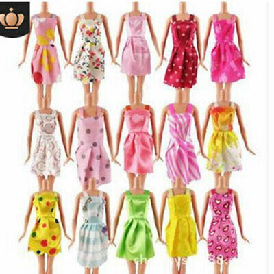 Dresses for Barbie Doll Fashion Party Girl Dresses Clothes Gown Toy Gift 10Pc UK