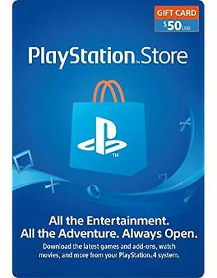 PlayStation Network Gift Card 50$ USD PSN UNITED STATES apply to PS3, PS4...