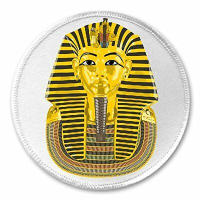"""Egyptian Pharaoh Gold - 3"""" Sew / Iron On Patch Ancient Egypt Tomb Gift Present"""