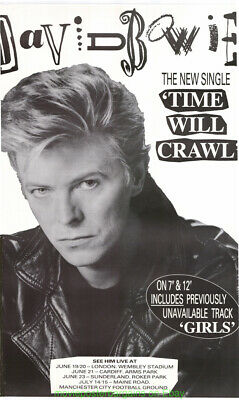 DAVID BOWIE TIME WILL CRAWL Single and Concert Promo POSTER UK Subway 3x5 ft